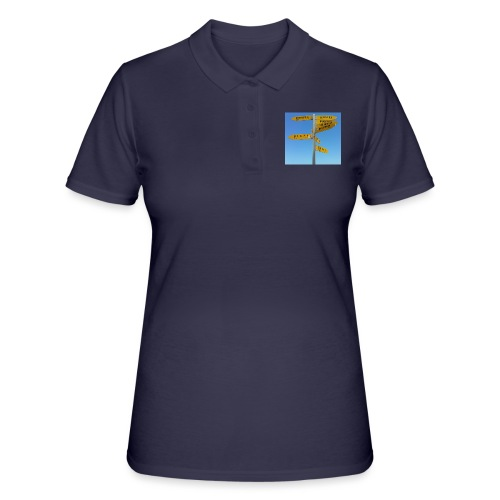 Wegweiser Cape Reinga Neuseeland Südpol Äquator - Frauen Polo Shirt