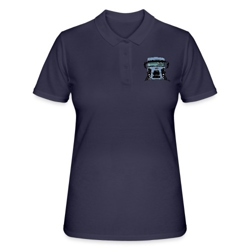 0812 F truck blue - Women's Polo Shirt