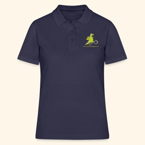 Musikdrache für dunklen Hintergrund - Frauen Polo Shirt