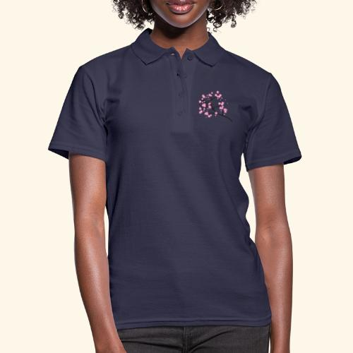 Pink blossoms branch - Women's Polo Shirt