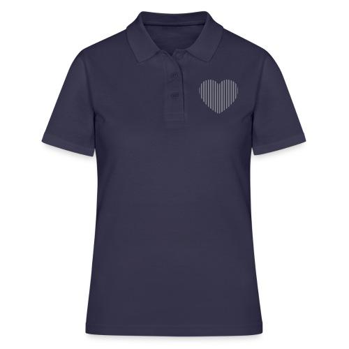 heart_striped.png - Women's Polo Shirt