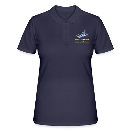 Wassermann 3 farbig - Frauen Polo Shirt