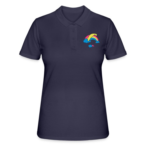 Rainbow & Clouds Paragliding - Women's Polo Shirt