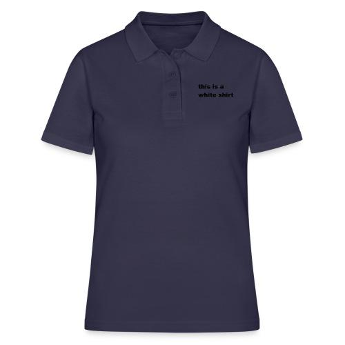 White shirt - Frauen Polo Shirt