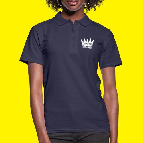 JESUS KING OF GLORY // Psalm 24:10 (WHITE) - Women's Polo Shirt