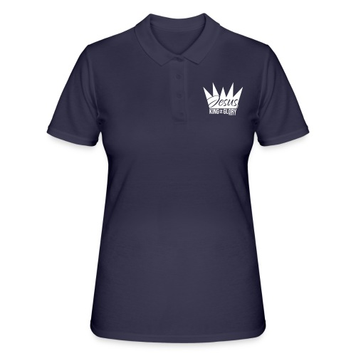 JESUS KING OF GLORY // Psalm 24:10 (WHITE) - Women's Polo Shirt