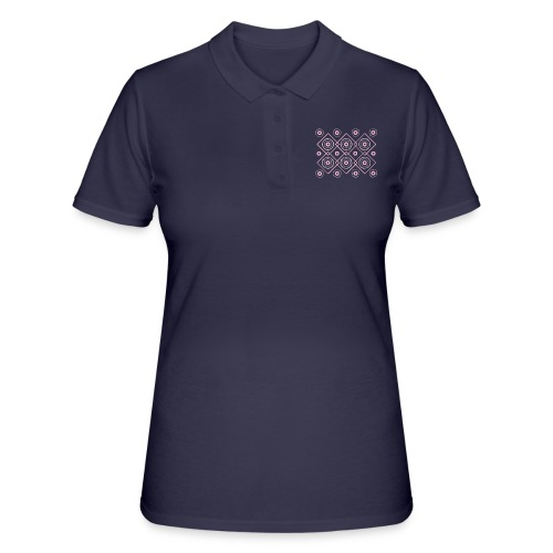 pink geometric print - Women's Polo Shirt