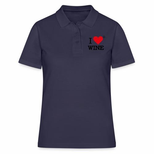 I heart wine - Women's Polo Shirt