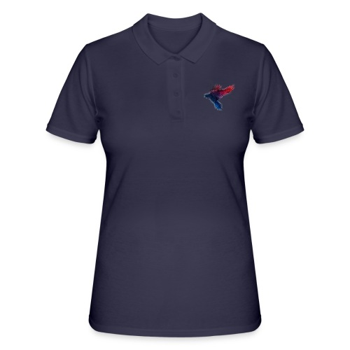 Watercolor Raven - Frauen Polo Shirt