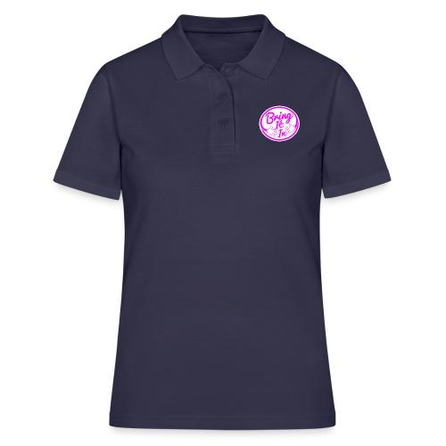 BII Pink font png - Women's Polo Shirt