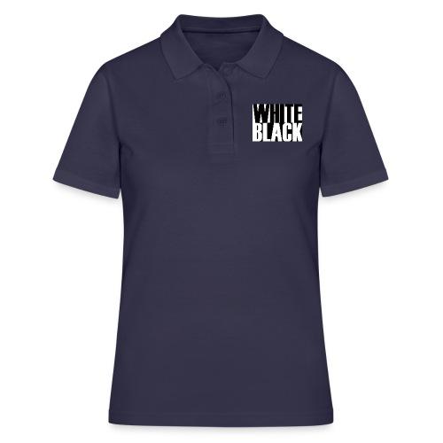 White, Black T-shirt - Women's Polo Shirt