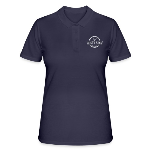 Weathered Crest White Logo Tee - Women's Polo Shirt