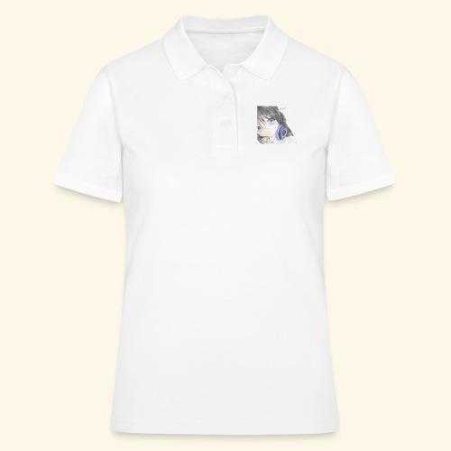 Anime Girl with Headphones - Women's Polo Shirt