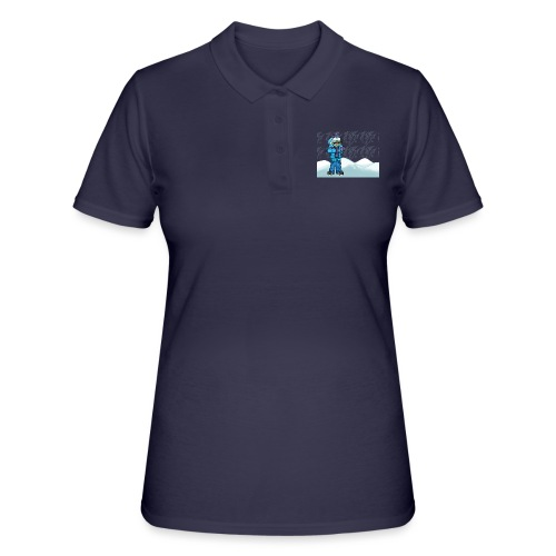 Freezing Turtle Snowboarder/Frierender Snowboarder - Frauen Polo Shirt