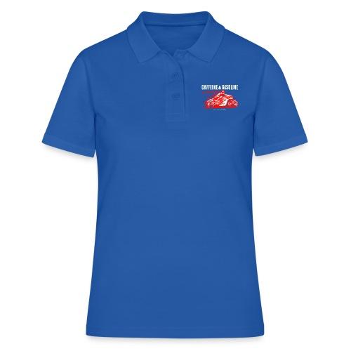 Caffeine & Gasoline white text - Women's Polo Shirt