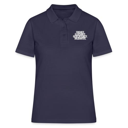 Freiheit. Gleichheit. Gerechtigkeit. Solidarität. - Frauen Polo Shirt