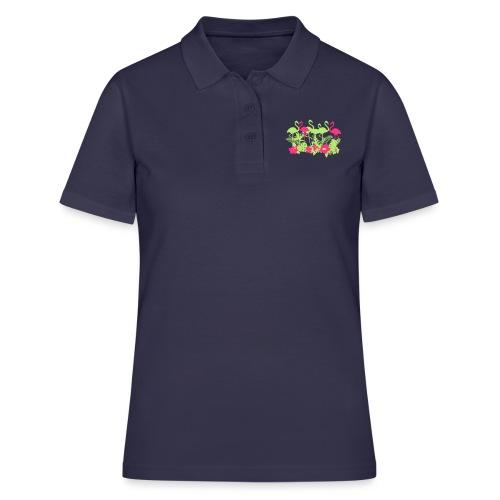 AL Dschungel Flowers & Flamingo - Frauen Polo Shirt