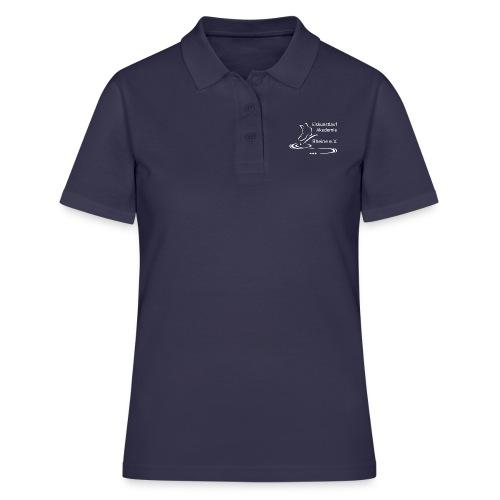 EARheine Logo weiss - Frauen Polo Shirt