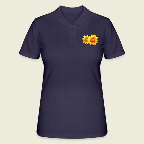 Leuchtende gelbe Blumen - Frauen Polo Shirt
