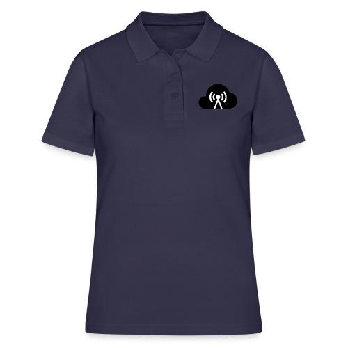 Cloud Cast Wolke schwarz mit Schriftzug - Frauen Polo Shirt