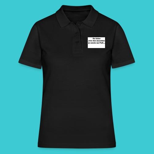 t-shirt humour - Polo Femme