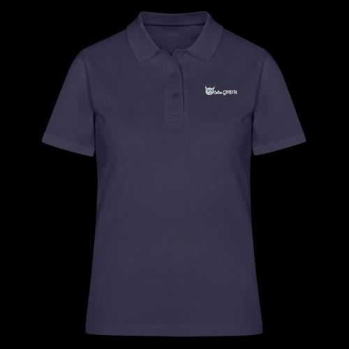 Katze GMBH Logo mit Schriftzug (Weiss auf dunkel) - Frauen Polo Shirt