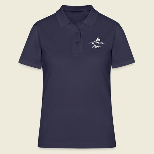 Moin mit Schiff in weiß - Frauen Polo Shirt