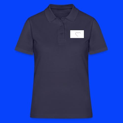 t-shirt bianca con cuore - Women's Polo Shirt