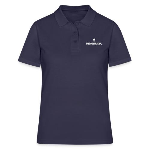Metalliluola valkoinen logo - Women's Polo Shirt