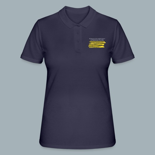 Nederlandse Grondwet T-Shirt - Artikel 94 - Women's Polo Shirt