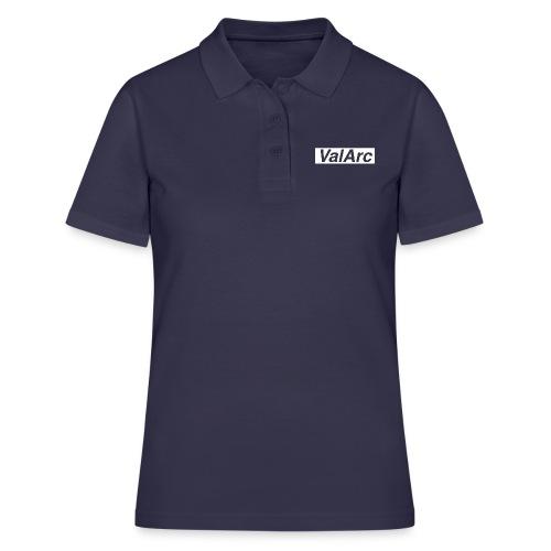 ValArc Text Merch White Background - Women's Polo Shirt