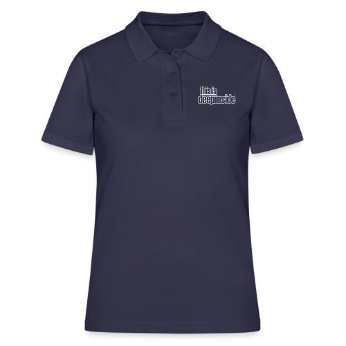 This is DEEPINSIDE logo white - Women's Polo Shirt