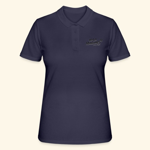 noloabandones negro - Women's Polo Shirt