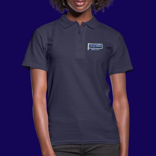 Lange Reihe: altes Straßenschild, Hamburg Germany - Frauen Polo Shirt