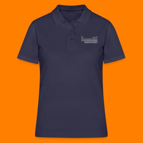 periodic white - Women's Polo Shirt