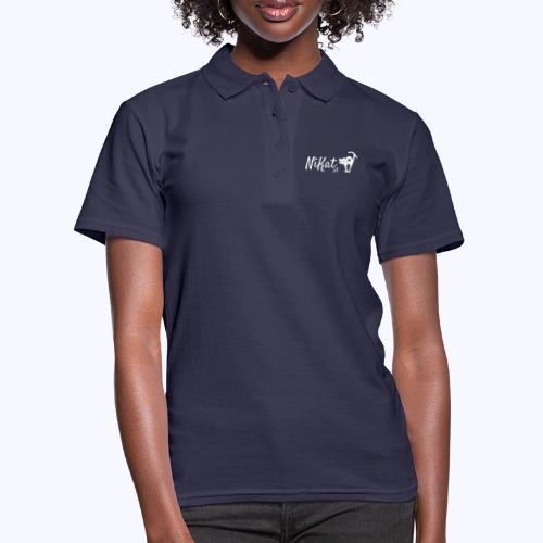 Nikat logo weiss - Frauen Polo Shirt
