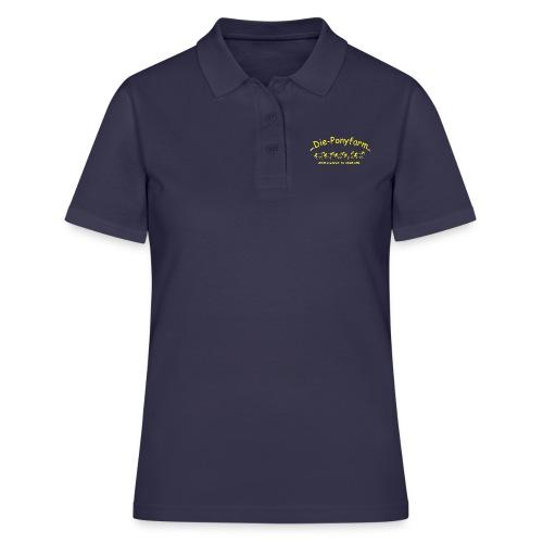Logo Pofa gelb - Frauen Polo Shirt