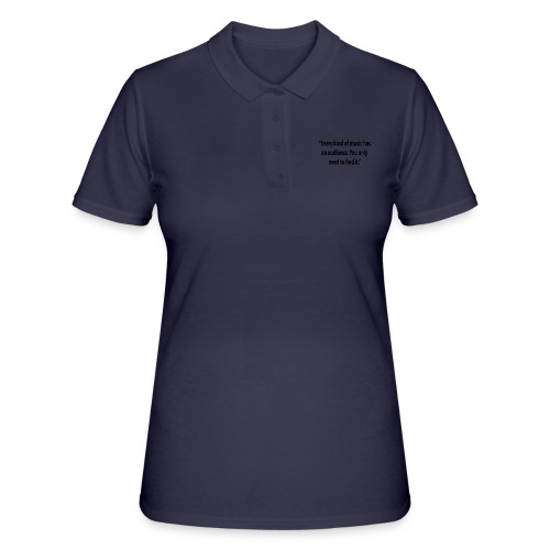 Quote RobRibbelink audiance Phone case - Women's Polo Shirt