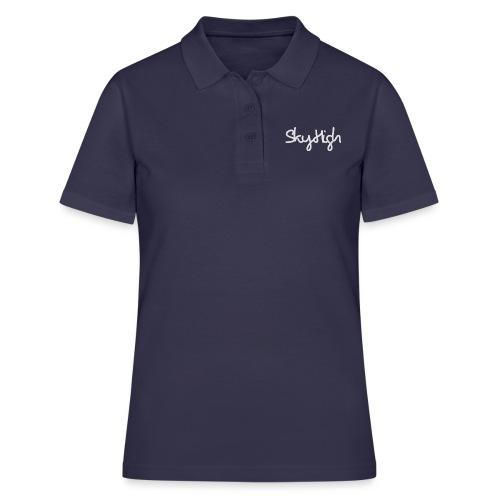 SkyHigh - Women's Premium T-Shirt - Gray Lettering - Women's Polo Shirt