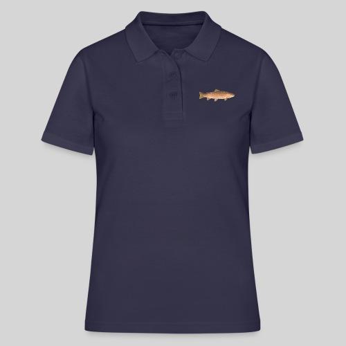 low-polygon-trout art.png - Women's Polo Shirt