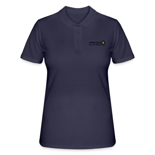 Warning DJ in Action - Women's Polo Shirt