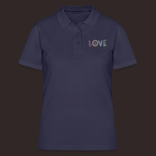 Liebe | Schriftzug kreativ bunt - Frauen Polo Shirt