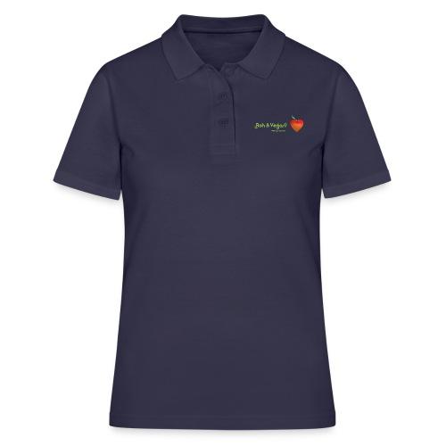 Roh & Vegan rotes Apfelherz (Rohkost) - Frauen Polo Shirt