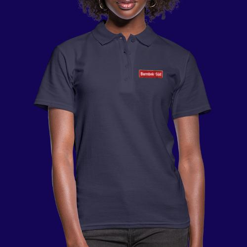 HAMBURG Barmbek Sued Ortsschild rot antik - Frauen Polo Shirt