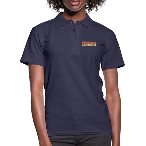Vintage London Souvenir - Retro Upside Down London - Frauen Polo Shirt