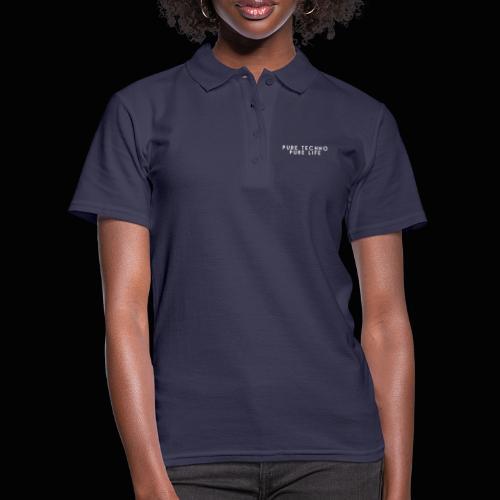 Pure Techno Pure Life White - Frauen Polo Shirt