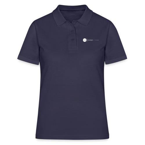 Linne med vit vertikal logo - Women's Polo Shirt