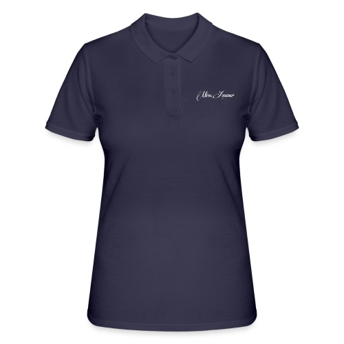 miss amour bara texten vit stor - Women's Polo Shirt