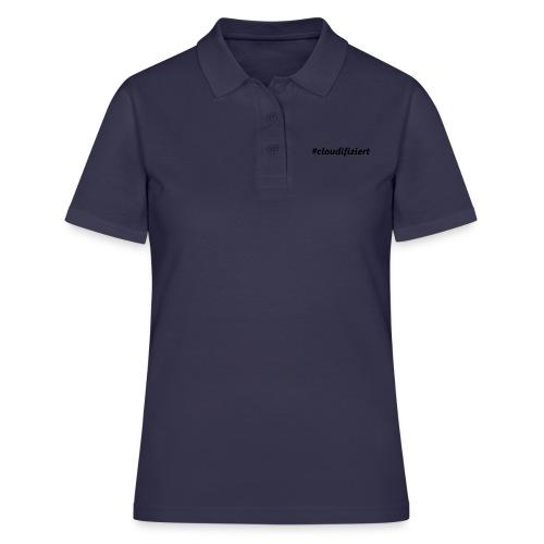 #cloudifiziert black - Frauen Polo Shirt