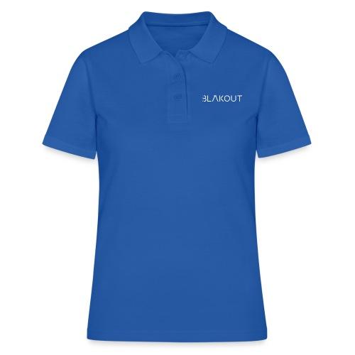 Bläkout -logo valkoinen - Women's Polo Shirt